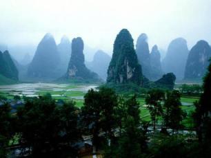 De magiska sockertoppsbergen, Yangshuo, Guilin