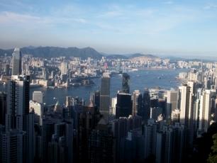 Utsikt från Victoria Peak i Hong Kong