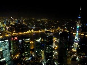 Vy från Jinmao i Shanghai