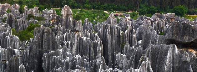 Stenskigen utanför Kunming i Yunnan