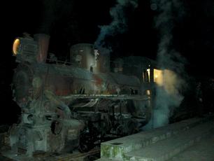 Bajiaogou, ånglok på smalspårig järnväg