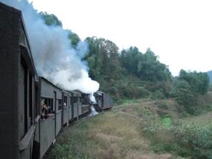 Koltåget i Bajiaogou, Sichuan