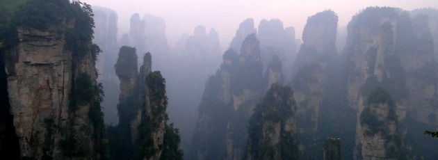 Bergen i Zhangjiajie är underliga skapelser