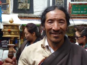 Tibetansk pilgrim i Lhasa