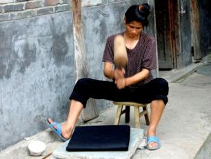 Tygtillverkning i Zhaoxing