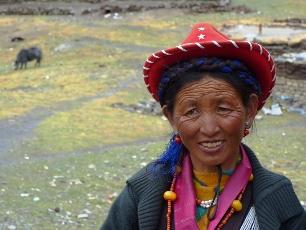 Kvinna i Tibet