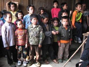 Barn i skolan i Pingtuan