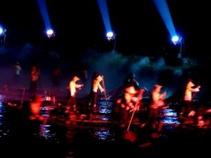 Ljusshow i Yangshuo