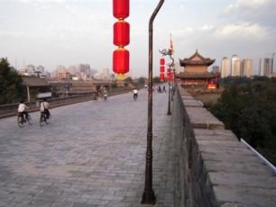 Cyklar på Xians stadsmur