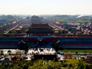 Förbjudna Staden i Peking, utsikt från Kolberget