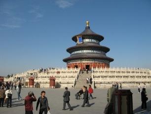 Himmelens Tempel i Peking en solig dag