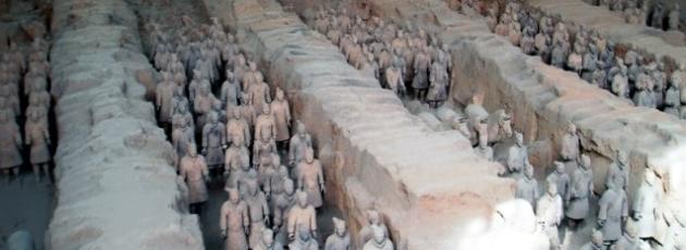 Armén av terrakotta i Xian