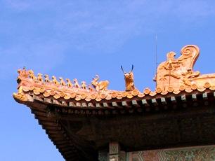 Förbjudna Staden i Peking, takdetalj