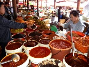 Matmarknad-kryddor