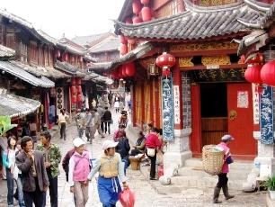 Gamla staden i Lijiang